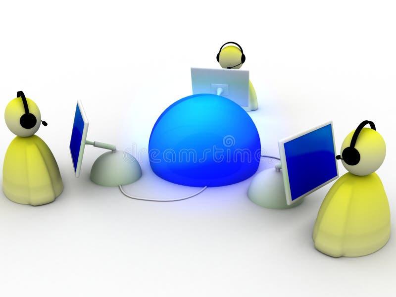 internetnätverk stock illustrationer