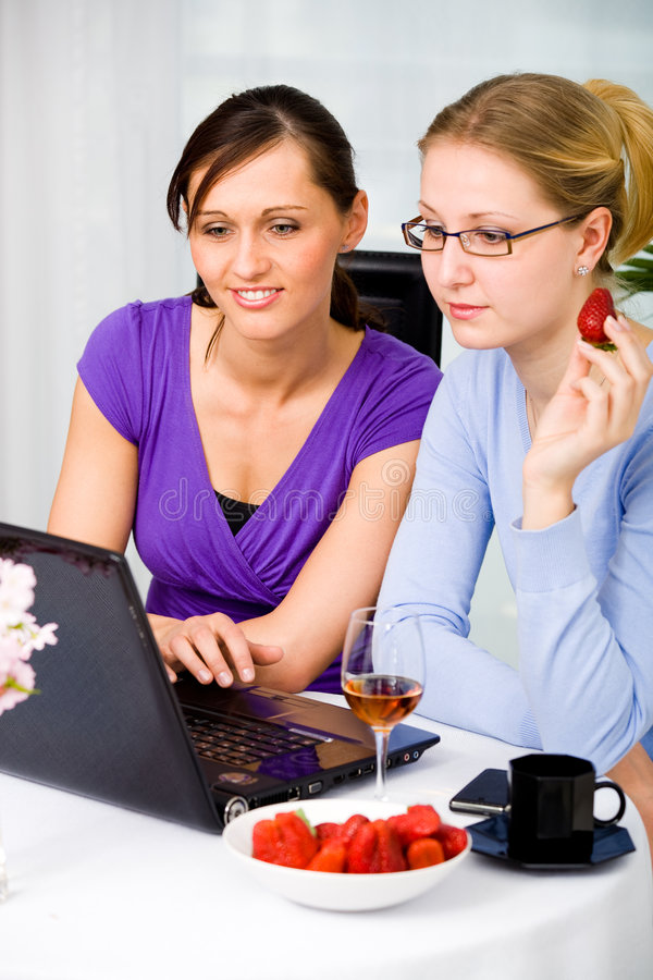 Internetowa kawiarnia obraz stock