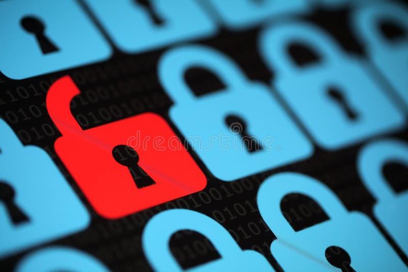 Internetowa ochrona obraz royalty free