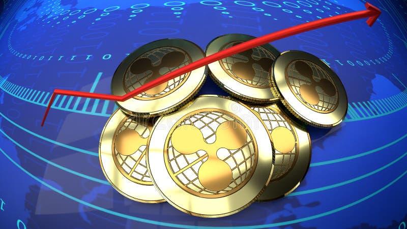 Internetowa online moneta, czochra, bitcoin alternatywa royalty ilustracja