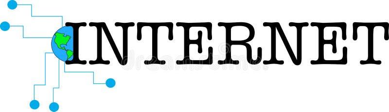 Internetowa słowo teksta loga ilustracja ilustracja wektor