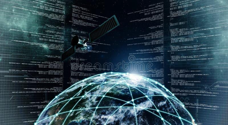 Internetowa technologie informacyjne ilustracji
