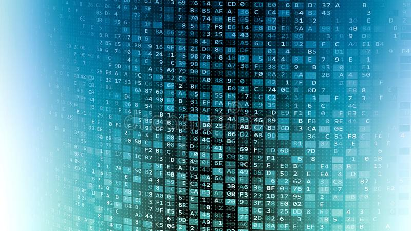 Internetowa technologie informacyjne dane ściana ilustracji