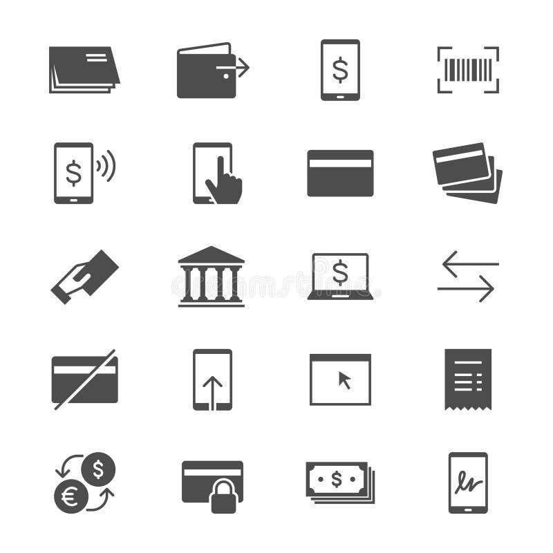Internetowe bankowości mieszkania ikony royalty ilustracja