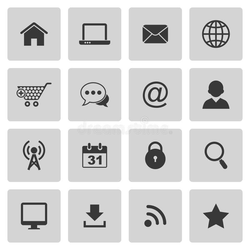 Internetowe ikony ilustracja wektor