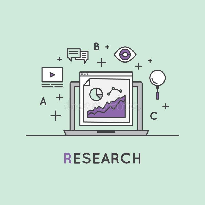 Internetowego surfingu i badania proces royalty ilustracja
