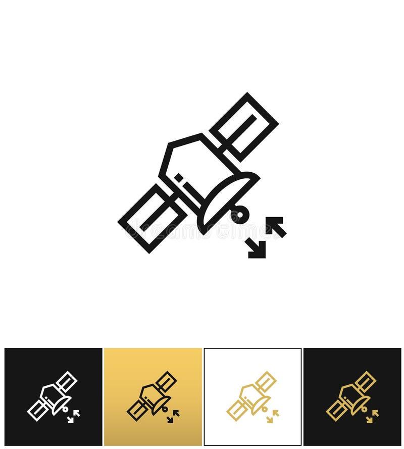 Internetowej satelity wyemitowana wektorowa ikona royalty ilustracja