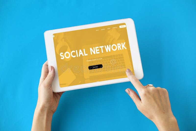 Internetowej technologii Ogólnospołeczny Medialny pojęcie zdjęcia royalty free
