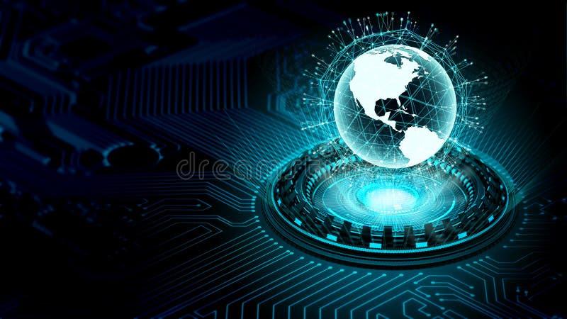 Internetowi duzi dane i technologie informacyjne pojęcie royalty ilustracja
