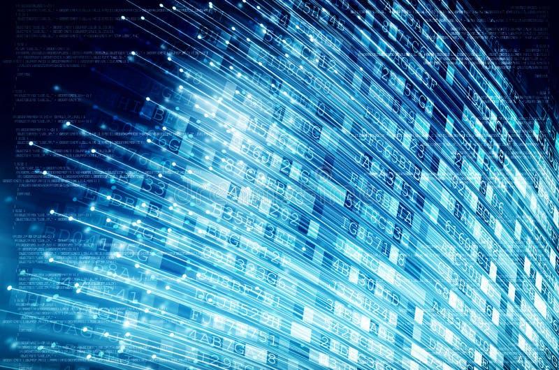 Internetowi szerokopasmowi włókna światłowodowe ilustracji