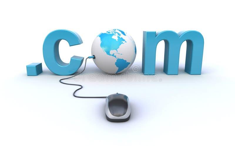 Internetowy adresu pojęcie ilustracji