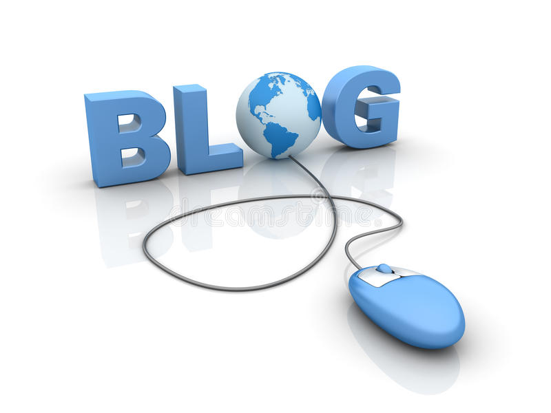 Internetowy blog royalty ilustracja