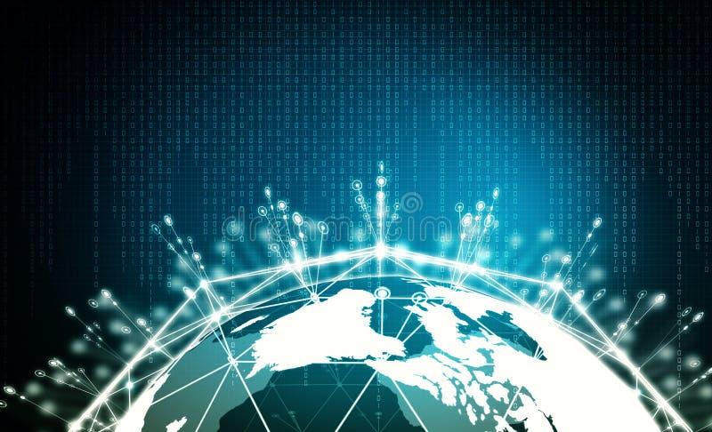 Internetowy duży dane informaci pojęcie royalty ilustracja