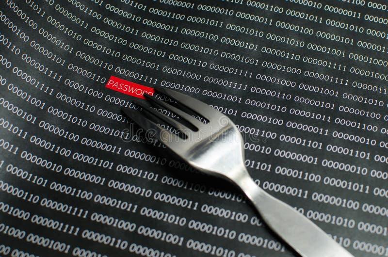 Internetowy hasło ochrony pojęcia hacker zdjęcie royalty free