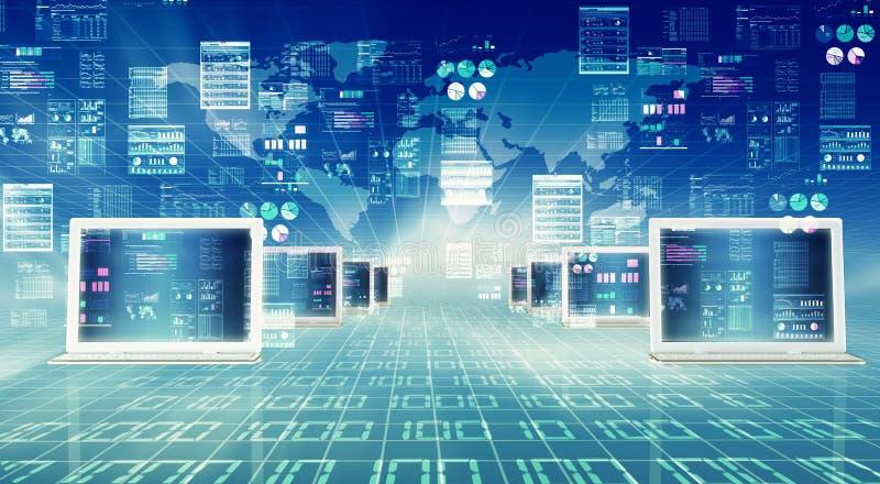 Internetowy komputer ilustracja wektor