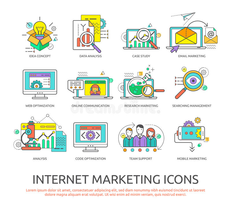 Internetowy marketing ilustracji