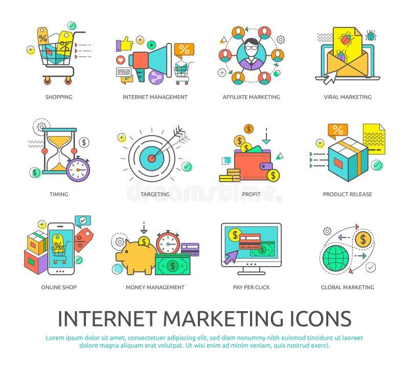 Internetowy marketing ilustracji