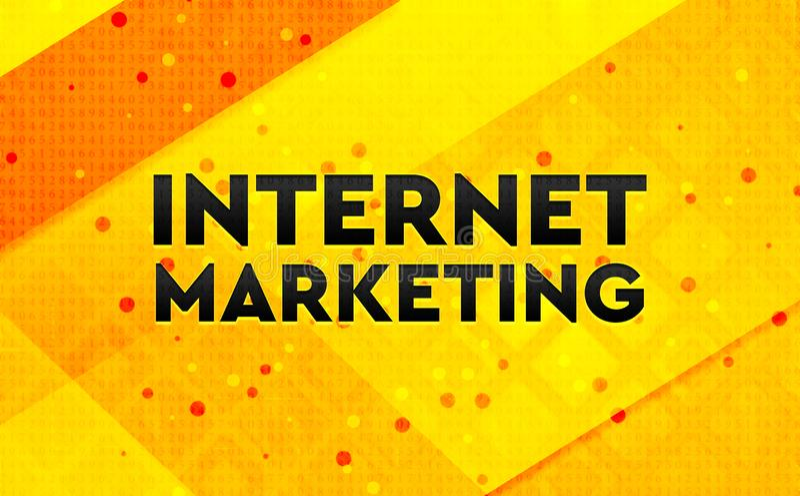 Internetowy Marketingowy abstrakcjonistyczny cyfrowy sztandaru koloru żółtego tło ilustracja wektor