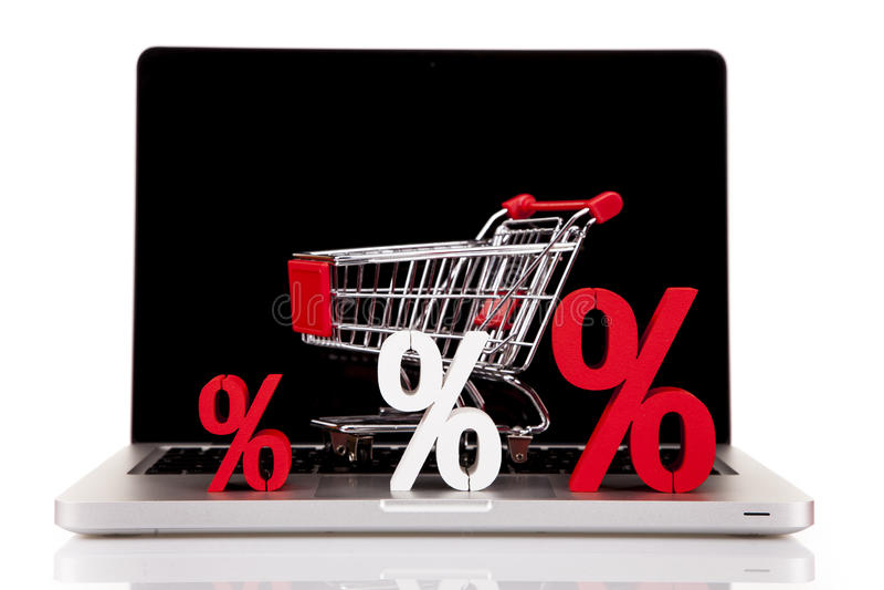 Internetowy Shoping pojęcie obraz stock