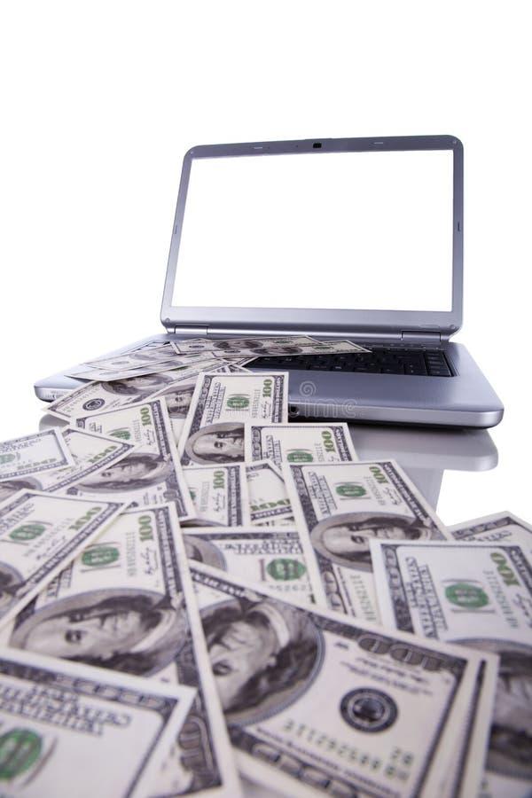 internetpengar royaltyfria foton