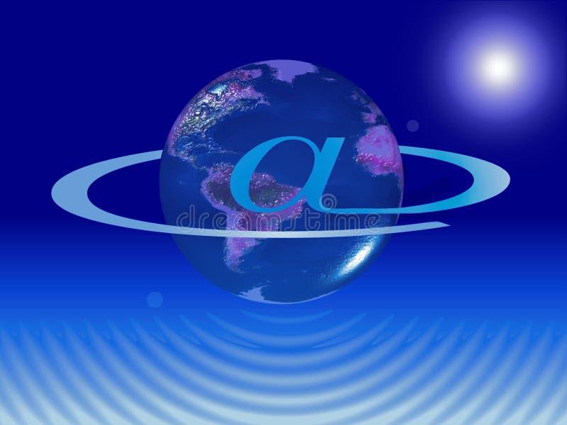 internetplanet vektor illustrationer
