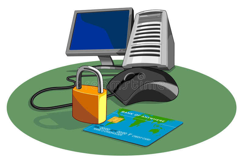 internetsäkerhet stock illustrationer