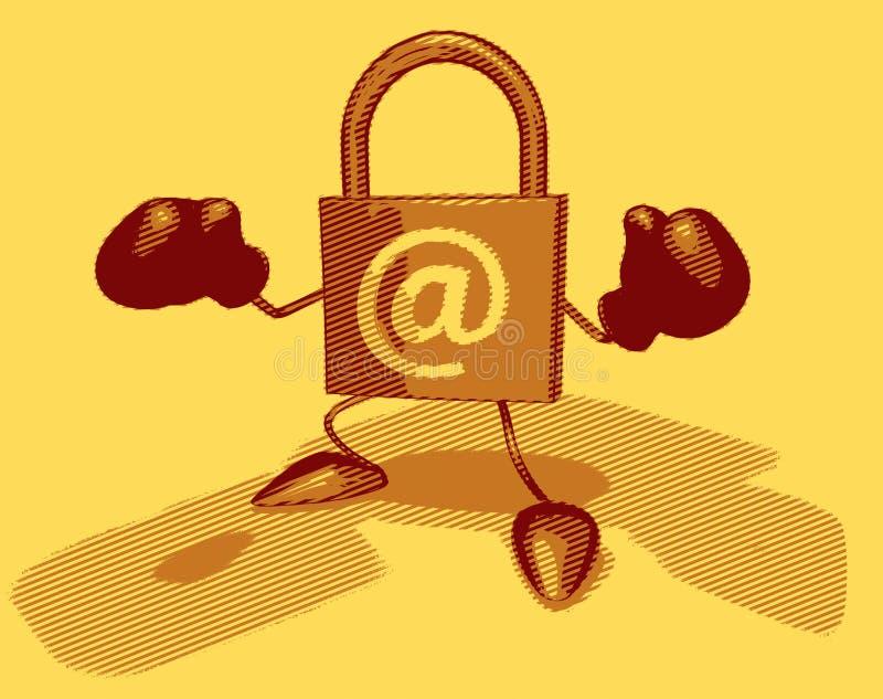 internetsäkerhet royaltyfri illustrationer
