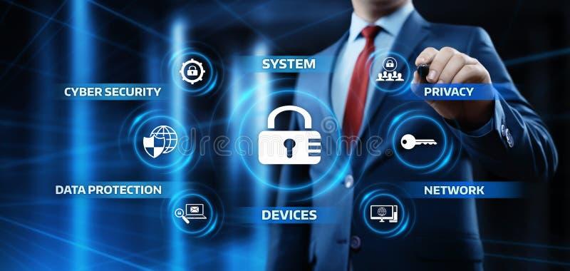 Internetsicherheits-Daten-Schutz-Geschäfts-Technologie-Privatlebenkonzept stockfotografie