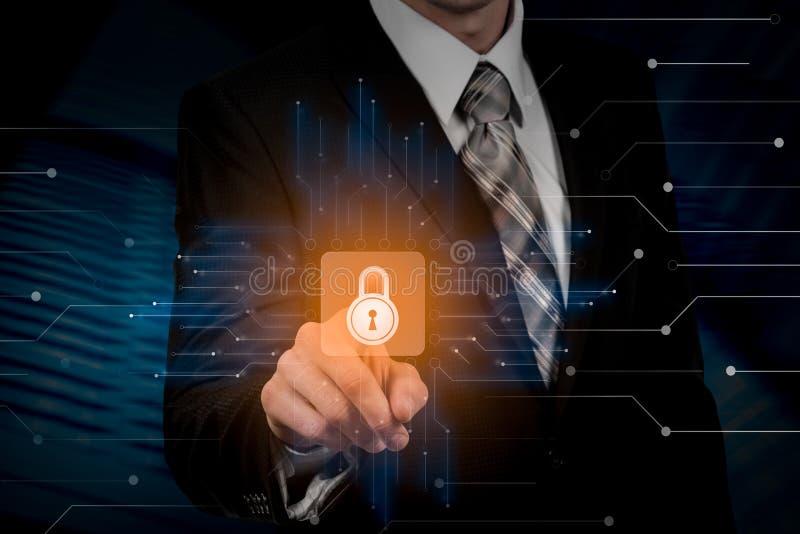 Internetsicherheits-Daten-Schutz-Geschäfts-Technologie-Privatlebenkonzept lizenzfreie abbildung