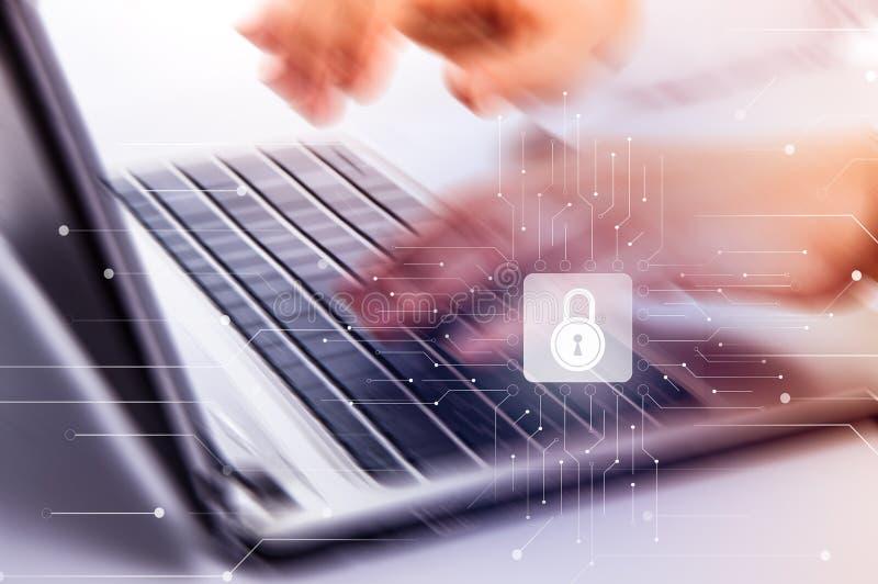 Internetsicherheits-Daten-Schutz-Gesch?fts-Technologie-Privatlebenkonzept lizenzfreie stockbilder