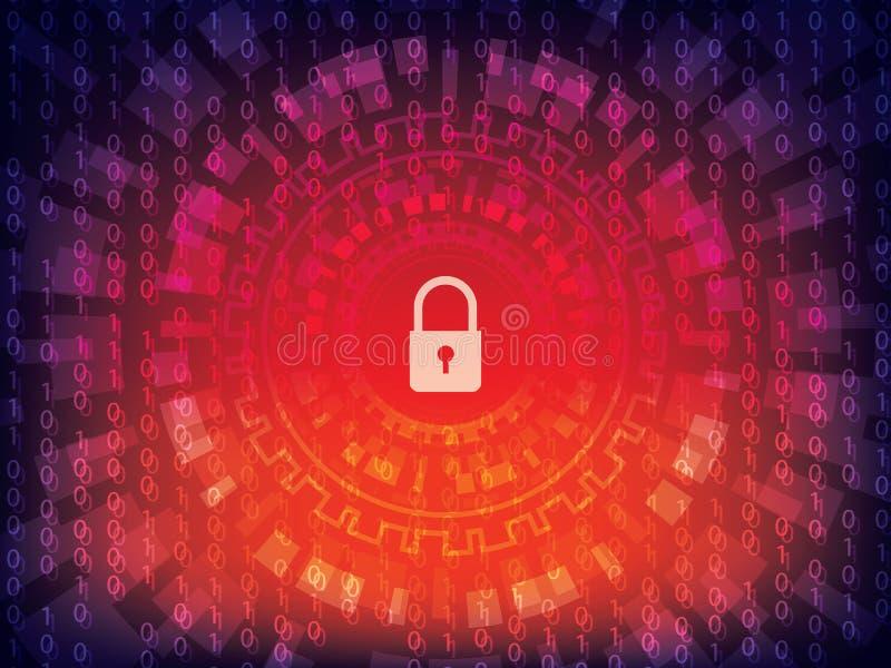 Internetsicherheitshintergrund vektor abbildung