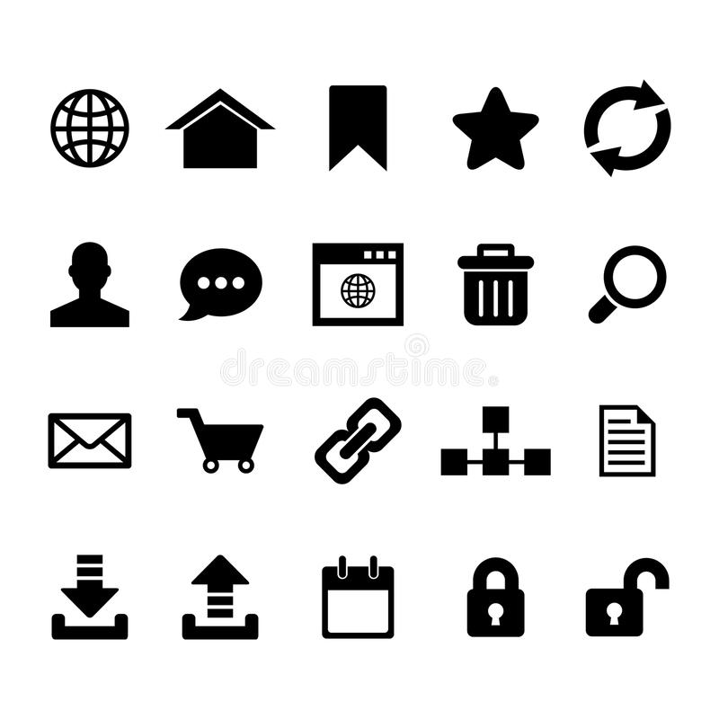 Internetsymbol stock illustrationer
