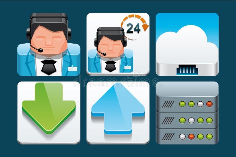 Internetsymboler royaltyfri illustrationer