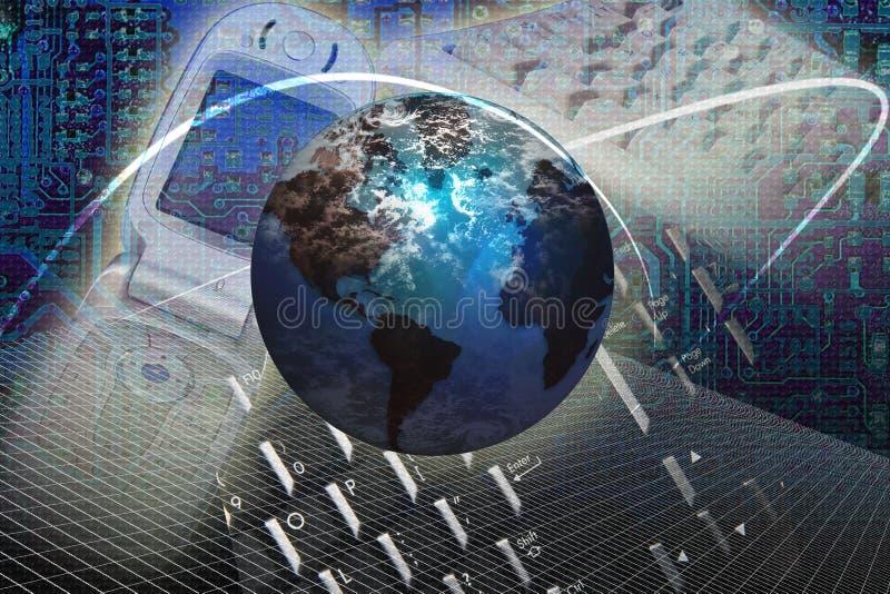 internetteknologirengöringsduk royaltyfri illustrationer