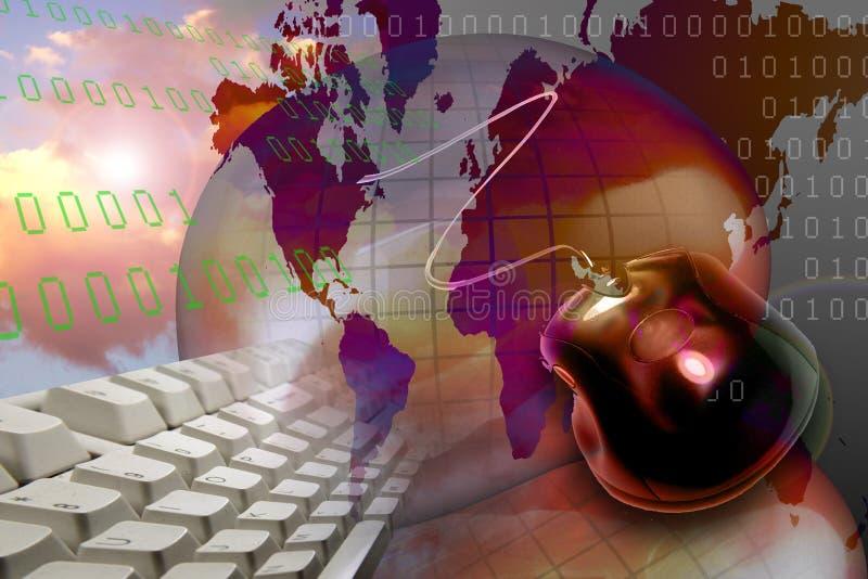 internetteknologirengöringsduk www stock illustrationer