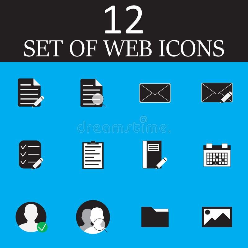 Internetvektorsymboler ställde in, den moderna rengöringsduksymbolsamlingen, pictogr vektor illustrationer
