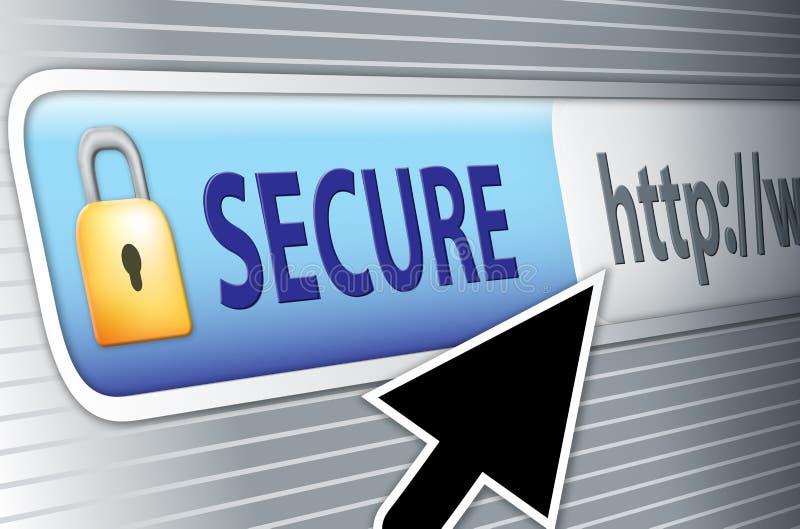 internety bezpiecznie royalty ilustracja