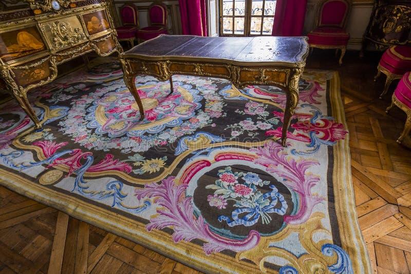 Interni degli appartamenti reali, Versailles, Francia fotografie stock