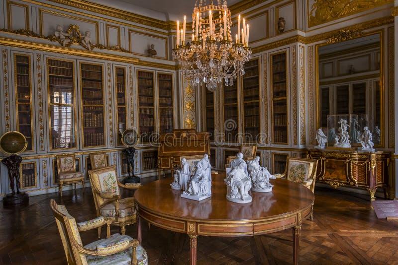 Interni degli appartamenti reali, Versailles, Francia immagine stock