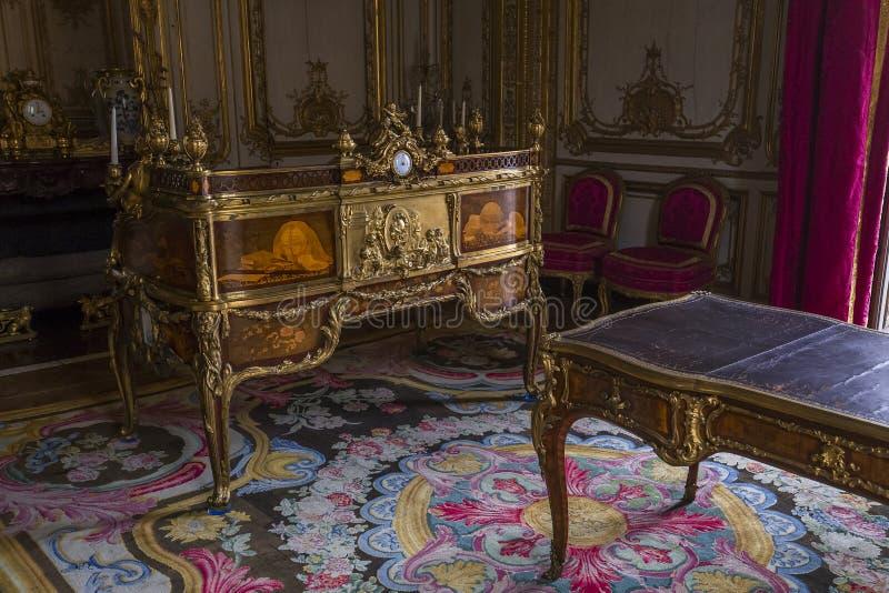 Interni degli appartamenti reali, Versailles, Francia fotografia stock libera da diritti