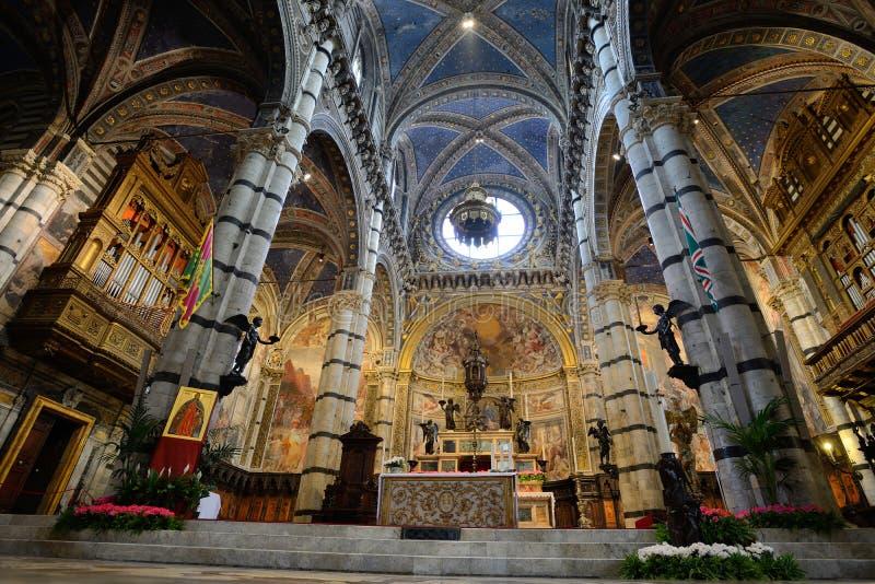 Interni della cattedrale di Siena, Italia fotografia stock