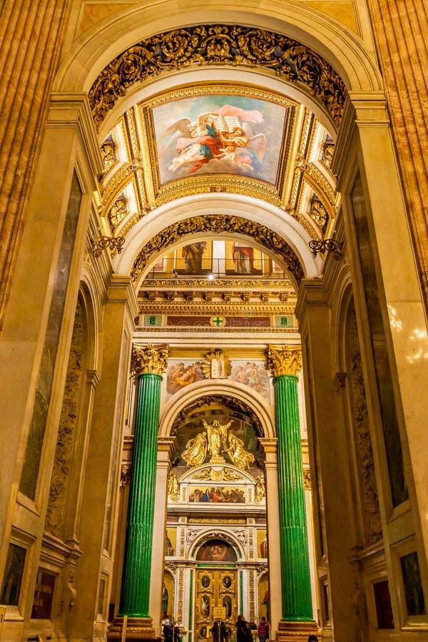 Interni della st Isaac Cathedral immagine stock