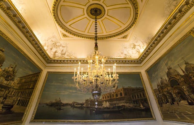 Interni di Royal Palace, Bruxelles, Belgio fotografia stock libera da diritti