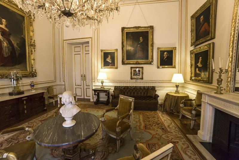 Interni di Royal Palace, Bruxelles, Belgio immagine stock libera da diritti