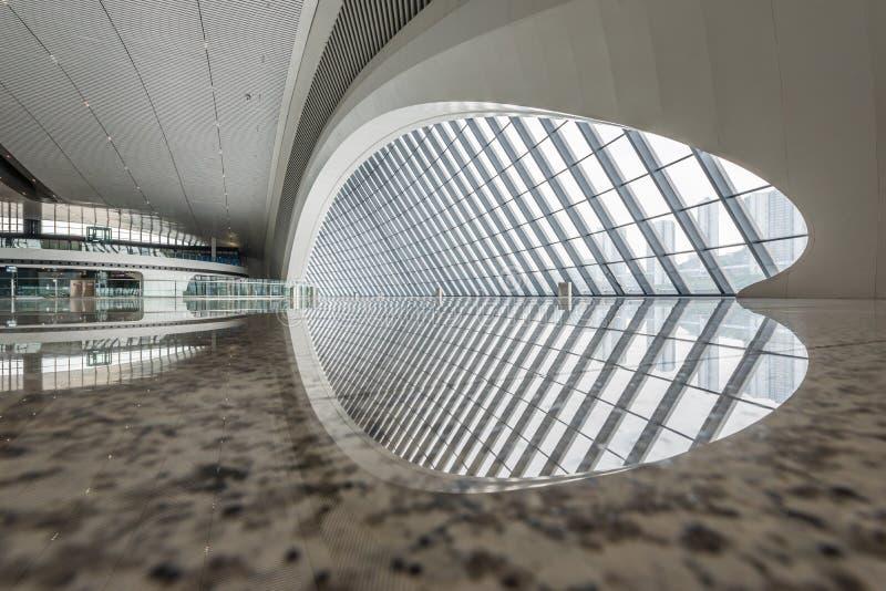Interno ad ovest della stazione ferroviaria di Chongqing fotografia stock libera da diritti