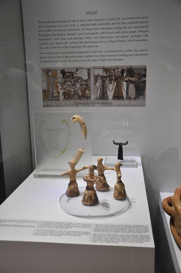 Interno archeologico del museo di Minoan da Candia nell'isola di Creta fotografia stock