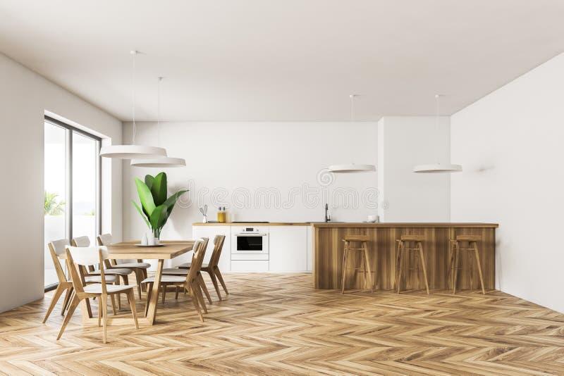 Sala Da Pranzo Chippendale Con Cucina Moderna Immagini Bianco  jabodetabek 2022