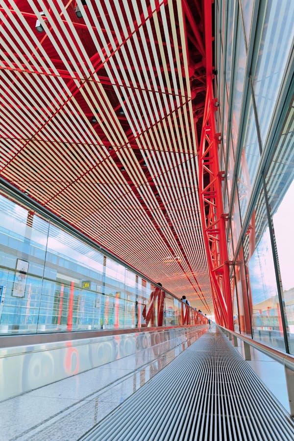 Interno capitale dell'aeroporto internazionale di Pechino fotografia stock
