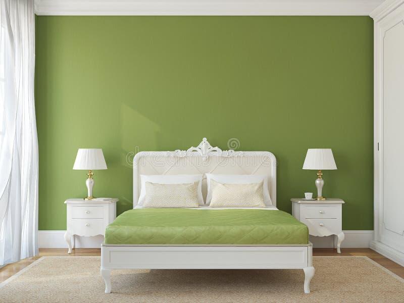 Interno classico della camera da letto. illustrazione vettoriale