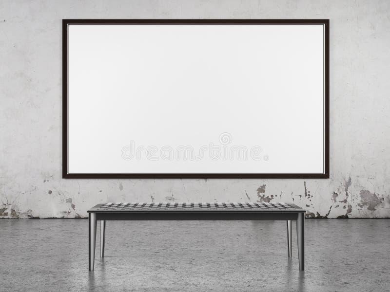 Interno con il grande blocco per grafici sulla parete illustrazione di stock
